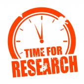 Time for Research — Stock Vector