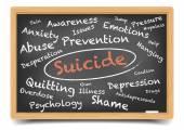 Wordcloud самоубийства — Cтоковый вектор