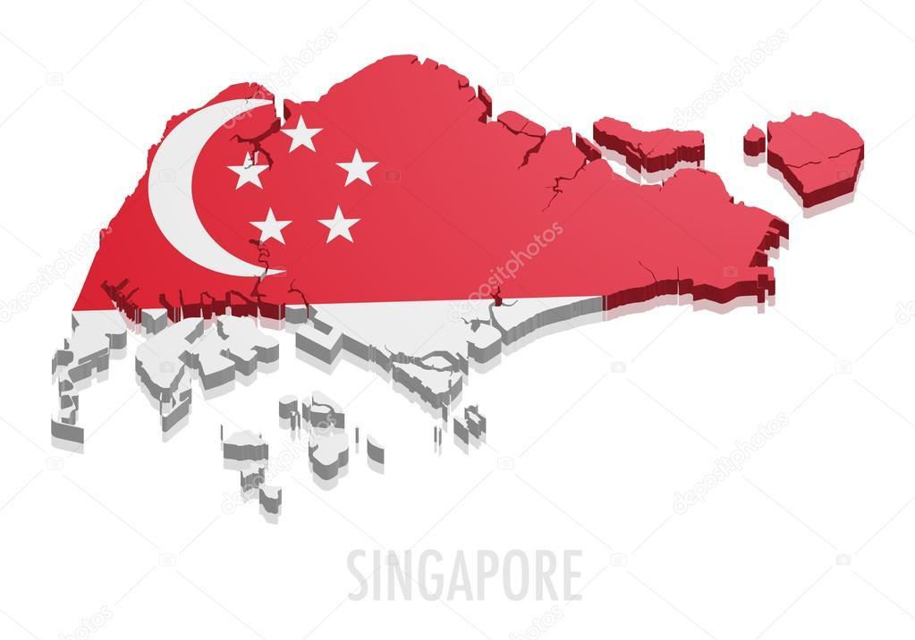 新加坡地图 — 图库矢量图像08