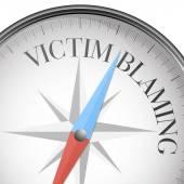 Compass Victim Blaming — Stock Vector