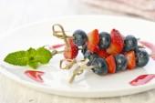 Berries on a skewers — Stock Photo