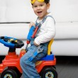 Cute boy dressed as a construction worker — Stock Photo #78145962