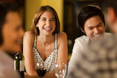 Friends laughing together — Stock Photo