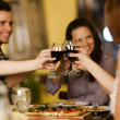 Group of friends toasting with wine — Stock Photo #60802723
