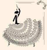Image of dancer flamenco — Stock Vector
