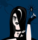 Gothic girl — Stock Vector