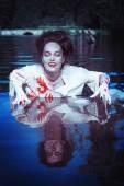 вампир в реке — Стоковое фото