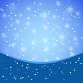 Winter xmas vector background with place for text — Stockvektor