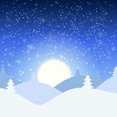 Vektor illustration av vinterlandskap — Stockvektor