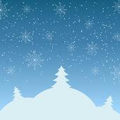 Ilustracja wektorowa zimowy krajobraz — Wektor stockowy