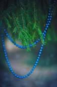 Christmas decoration bead on the fir branch — Stock Photo