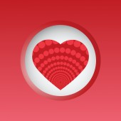 Valentine day card with heart in circle banner — Stock Vector