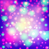 Romantic valentine day card with hearts — Vector de stock