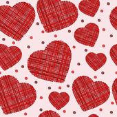 无缝潦草的红心图案。矢量图 — 图库矢量图片