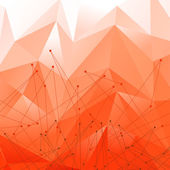 Vector Background with Red Polygonal Abstract Shapes — Vector de stock