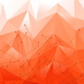 Vector Background with Red Polygonal Abstract Shapes — Stock vektor
