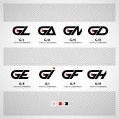 Abstract Vector Logo Design Template — Stock Vector