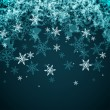 Vector Abstract Winter Background from Snowflakes — Stock Vector #59599615
