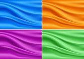 Colorful Modern Banner Silk Set. Abstract Vector Texture — Stock Vector
