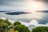 Beautiful sunset on Santorini island, Greece — Stock Photo