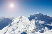 Vinter bergstoppar — Stockfoto