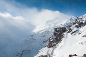 Winter snow covered mountains — Stock Photo