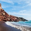 View of the seacoast and the Red beach — Stock Photo #63801411