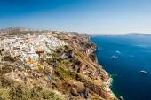 Arquitectura blanca en la isla de santorini, grecia — Foto de Stock