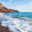 View of the seacoast and the beautiful Red beach — Stock Photo #69173877