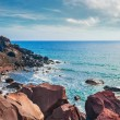 View of the seacoast and the beautiful Red beach — Stock Photo #69680933
