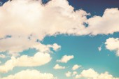 Beautiful blue sky with white clouds.  — Stock Photo