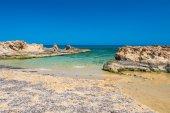Malia beach, Crete island, Greece — Stock Photo