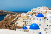 White architecture on Santorini island, Greece. — Stock Photo