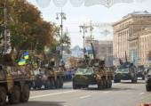 Ukrainian armored troop-carriers — Stock Photo