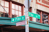 Pike place sign, Seattle — Stock Photo