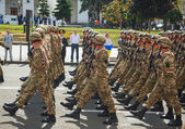 Ukrainian Anti-diversion squad — Stock Photo