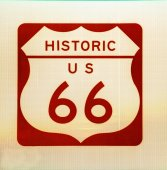 US Route 66 sign — Stock Photo