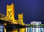 Golden Gates bridge, Sacramento — Stock Photo