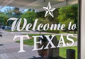 Willkommen in texas — Stockfoto
