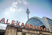 Alexanderplatz subway station — Stockfoto