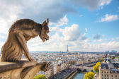 Paris aerial view — Stock Photo
