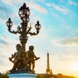 Lamppost at the Alexander III bridge in Paris — Stock Photo #61617127