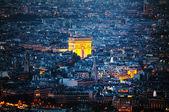Arc de Triomphe de l'Etoile in Paris — Stock Photo