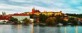 Panoramic overview of old Prague — Stock Photo