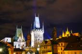 The Old Town with Charles bridge in Prague — Stock Photo