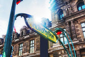 Metropolitain sign in Paris, France — Stock Photo