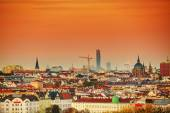 Vienna aerial view in the evening — Stock Photo