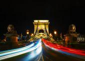 Szechenyi chain bridge in Budapest — Stock Photo