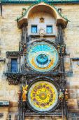 The Prague Astronomical Clock at Old City Hall — Foto Stock