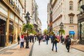 Vaci street crowded with tourists — Stock Photo